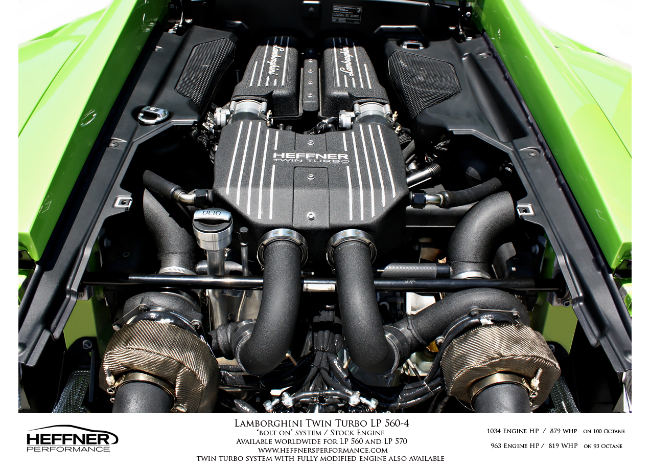 Lamborghini Gallardo Turbo Engine Matte Engines Supercar Supercars